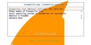 CloneZilla Ekran Görüntüsü