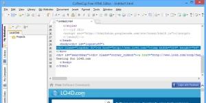 CoffeeCup Free HTML Editor Ekran Görüntüsü