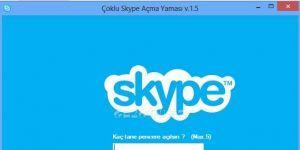 �oklu Skype A�ma Program� Ekran G�r�nt�s�