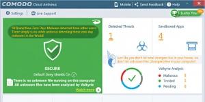 Comodo Cloud Antivirus Ekran Görüntüsü