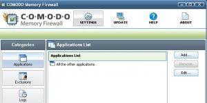 Comodo Memory Firewall Ekran Görüntüsü