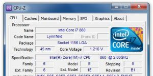 CPU-Z Ekran Görüntüsü