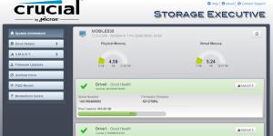 Crucial Storage Executive Ekran Görüntüsü