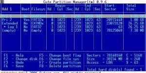 Cute Partition Manager Ekran Görüntüsü
