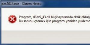 d3dx9_43.dll Ekran Görüntüsü