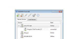 DAEMON Tools USB Ekran Görüntüsü
