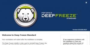 Deep Freeze Standard Ekran Görüntüsü