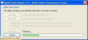 Digital Video Repair Ekran Görüntüsü