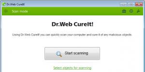 Dr.WEB CureIt! Ekran Görüntüsü