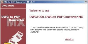 DWG to PDF Converter MX Ekran Görüntüsü
