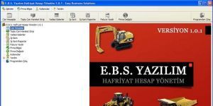 E.B.S. Hafriyat Hesap Yönetim Ekran Görüntüsü