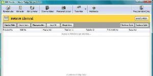 EBS Hasta Takip Programı Ekran Görüntüsü