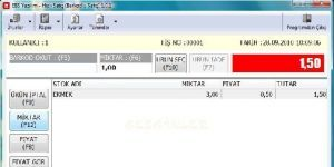 EBS Hızlı Satış - Barkodlu Satış Ekran Görüntüsü