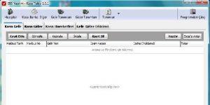 EBS Kasa Gelir Gider Takip Ekran Görüntüsü