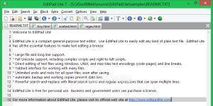 EditPad Lite Ekran Görüntüsü