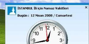 ElvanPark Namaz Vakitleri Program� Ekran G�r�nt�s�