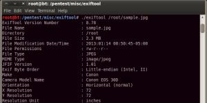 ExifTool Ekran Görüntüsü