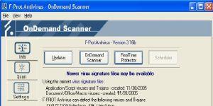 F-PROT Antivirus Ekran G�r�nt�s�