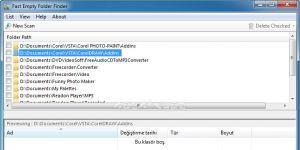 Fast Empty Folder Finder Ekran Görüntüsü