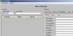 Fenesoft Adres Defteri Ekran Görüntüsü