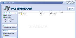 File Shredder Ekran Görüntüsü