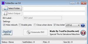 Folder2Iso Ekran Görüntüsü