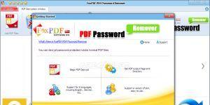 FoxPDF PDF Password Remover Ekran Görüntüsü