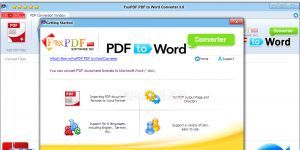 FoxPDF PDF to Word Converter Ekran Görüntüsü