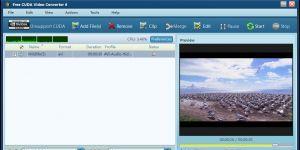 Free CUDA Video Converter  Ekran Görüntüsü