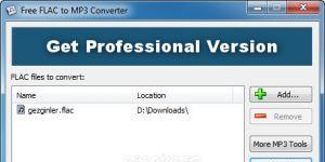 Free FLAC to MP3 Converter Ekran G�r�nt�s�