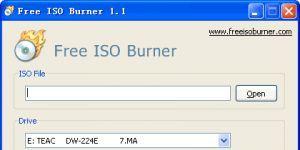 Free ISO Burner Ekran Görüntüsü