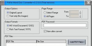 Free PDF to Word Doc Converter Ekran Görüntüsü