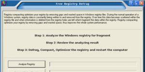 Free Registry Defrag Ekran Görüntüsü
