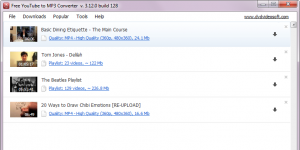 Free YouTube to MP3 Converter Ekran G�r�nt�s�