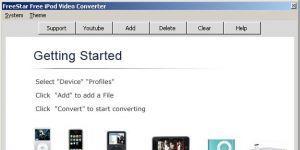 FreeStar Free iPod Video Converter Ekran Görüntüsü