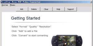 FreeStar Free PSP Video Converter Ekran Görüntüsü