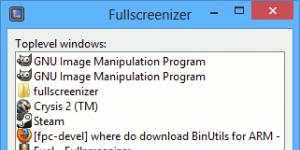 Fullscreenizer Ekran Görüntüsü
