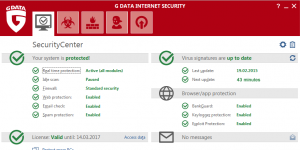 G DATA Internet Security Ekran Görüntüsü