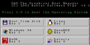 GAG Graphical Boot Manager Ekran Görüntüsü