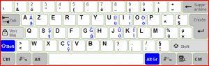 Genişletilmiş Türkçe Klavye Ekran Görüntüsü