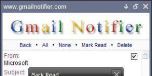 Gmail Notifier Ekran Görüntüsü