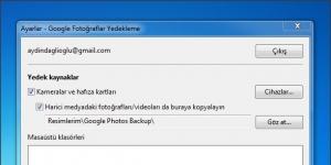 Google Photos Backup Ekran Görüntüsü