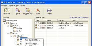 Günlük İş Takibi Ekran Görüntüsü