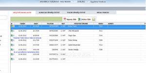 Halı Yıkama Sipariş Programı Ekran Görüntüsü
