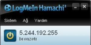 Hamachi Ekran Görüntüsü
