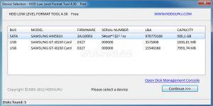 HDD Low Level Format Tool Ekran Görüntüsü