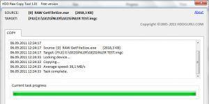 HDD Raw Copy Tool Ekran Görüntüsü