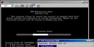 HDD Regenerator Ekran Görüntüsü