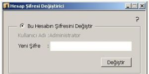 Hesap Şifresi Değiştirici Ekran Görüntüsü