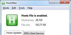 HostsMan Ekran Görüntüsü